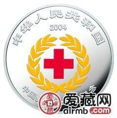 中国红十字百年金银币1盎司彩色银币