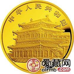 1995中国乙亥猪年金银铂币12盎司黄胄所绘《猪图》金币