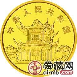1999中国己卯兔年金银铂币1/10盎司彩色金币