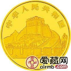中国古代科技发明发现金银币1/2盎司索桥金币