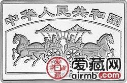 中国古代名画系列金银币洛神赋图长方形银币