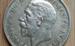 英国乔治五世银币1克朗图片鉴赏