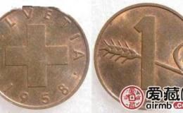瑞士铜币1分图文赏析