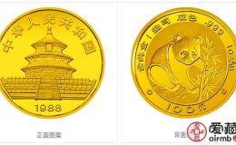 1988年熊貓金幣套裝金套貓1988年熊貓金幣