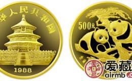1988年5盎司熊貓金幣圖片及介紹
