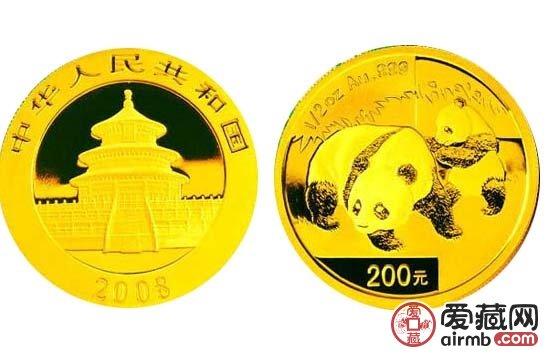 2008年5盎司熊猫金币