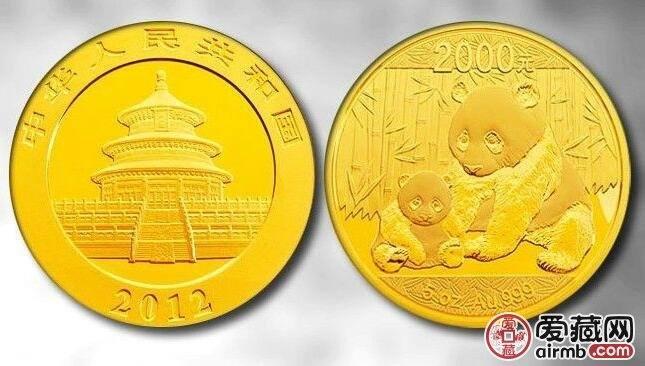 2012年5盎司熊猫金币价格及图片