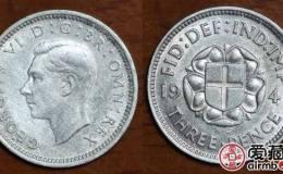 英国乔治六世银币3便士图文赏析