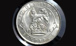 英国乔治五世银币6便士图文赏析