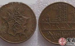 法国巴士底狱铜币10法郎图文解析