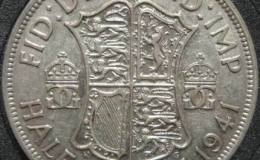 英国乔治六世银币半克朗图文解析