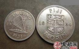 英属斐济银币1先令图文赏析