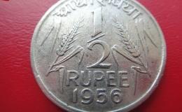 英属印度银币1/2卢比图文赏析