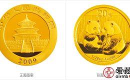 2009年熊貓金幣套裝金套貓圖文鑒賞