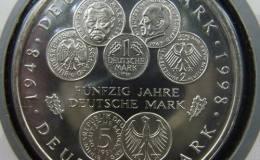 德国马克50周年银币10马克图文解析
