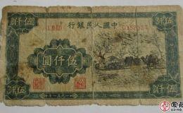 第一套激情电影币五千元蒙古包辨别真假方法