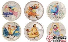 中國古代神話故事彩銀幣第一二三組套裝圖文賞析