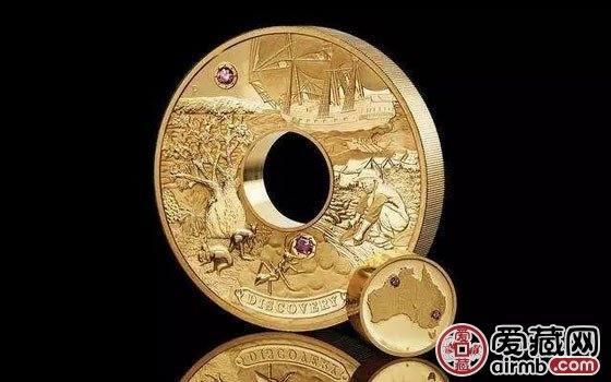 澳大利亚有史以来最昂贵的镶粉钻金币