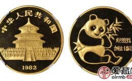 1982年熊猫金套币价格持续上涨,地位无可取代