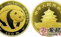 1983年熊猫金套币价格上涨,可以选择投资