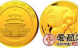 2004年熊猫金套币价格提升快,获得国内外投资者的大力关注