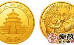 2005年熊猫金套币价格缓慢增长,收藏需要有一定的耐心