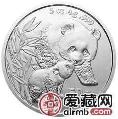 2004年熊猫5盎司银币走上国际投资舞台,获得国内外投资者的大力