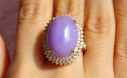 紫罗兰翡翠戒指价格是多少 一般是多少钱