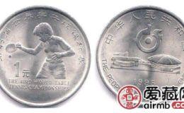 第四十三届世乒赛纪念币价格稳定,价格上升仍需等待