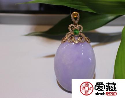 染色紫罗兰翡翠的特征及鉴别方法详解