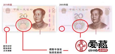 2019版第五套人民币20元花卉有什么变化 2019纸币花卉都是什么