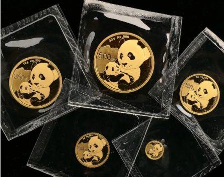 2019年熊猫金币5枚套装最新价格