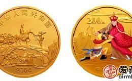 2004年悟空拜師彩色金幣價格還不穩定,建議長期投資