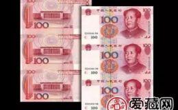 100元三连体钞最新价格