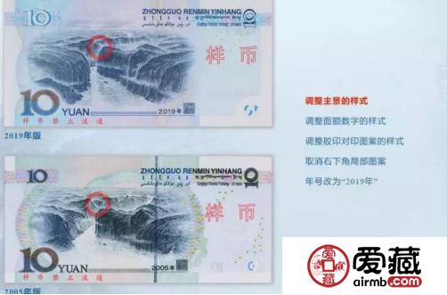 2019年10元纸币 正背面及真假鉴别
