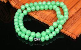 翡翠珠子项链几颗是最合适的