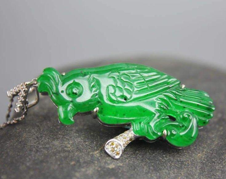 翡翠鹦鹉挂件 翡翠鹦鹉寓意是什么