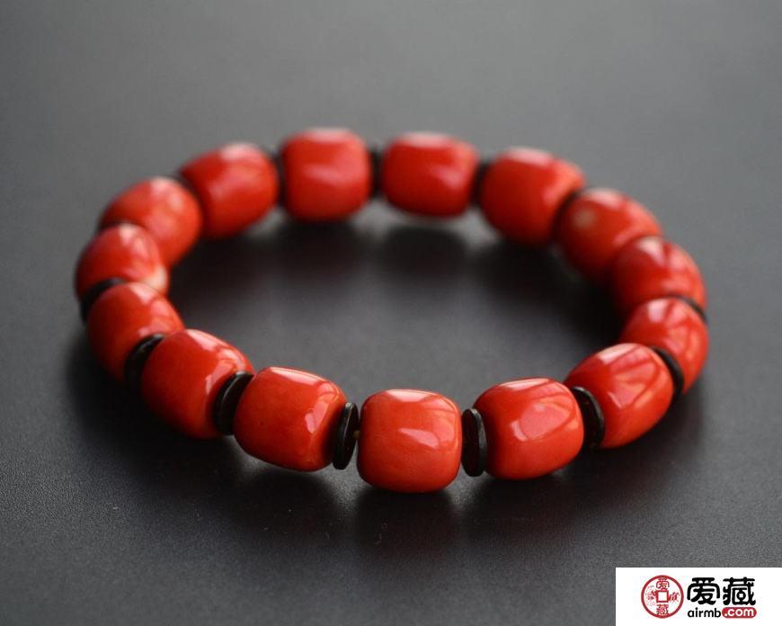 红珊瑚手串如何鉴别,红珊瑚手串包浆图片