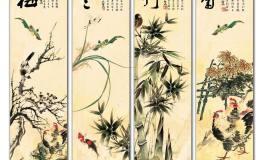 梅兰竹菊字画鉴赏,梅兰竹菊字画图片赏析