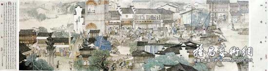 欣赏历史画《江南丝市》 图式平易近人寓意深厚