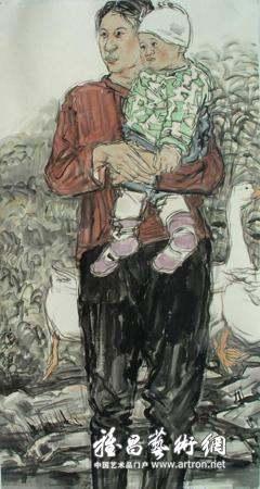关于范治斌的水墨肖像