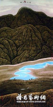 刘万年的西藏山水画