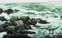 任逸的大海水墨画