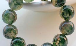 水草玛瑙手串如何鉴别,水草玛瑙手串包浆图片