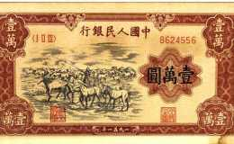中国激情电影银行壹万元牧马图怎么辨别真假?壹万元牧马图价值