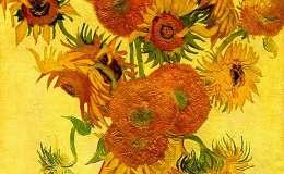 向日葵油画作品欣赏,梵高向日葵油画作品