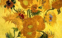 梵高向日葵油画图片,梵高向日葵油画作品鉴赏