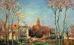 印象派风景油画作品欣赏,毕沙罗风景油画图片鉴赏