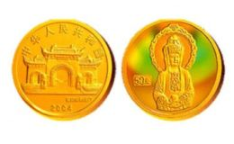 2004年幻彩觀音1/10盎司白衣觀音金幣四組