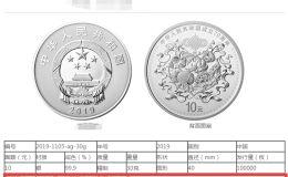 建国成立70周年金银币30克银质纪念币两枚回收价格 收购价